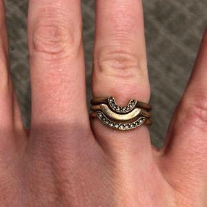 Chloe + Isabel stacking ring set size 7